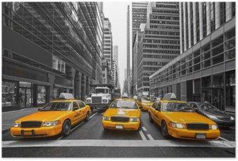 HD Poster New York, ABD TYellow taksiler.