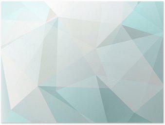 HD Poster Abstracte driehoek achtergrond, vector