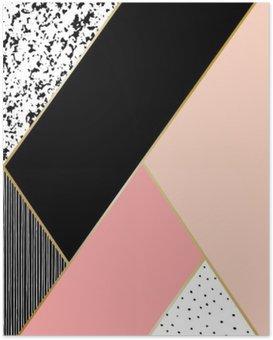 HD Poster Abstracte Geometrische compositie.
