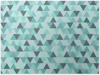 HD Poster Abstrakt jul triangelmönster, blågrå geometriska vintersemester bakgrund