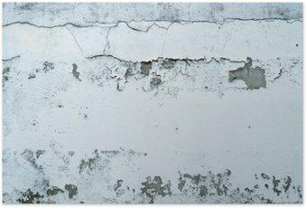 HD Poster Afschilferende verf op een stenen muur
