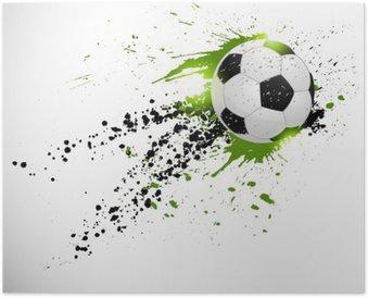HD Poster Fotboll konstruktion