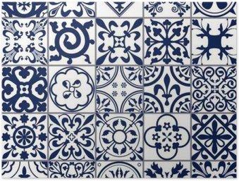 HD Poster Marokkaanse tegels Naadloze Patroon A