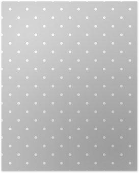 HD Poster Naadloze wit en grijs vector patroon of tegel achtergrond met stippen