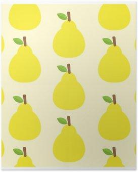 HD Poster Patroon vector achtergrond Cute fruit kleur Kijk heerlijk Rond-
