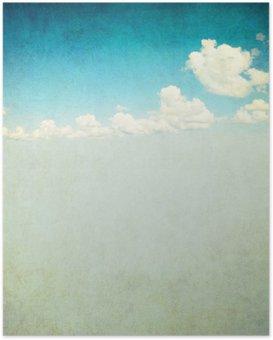HD Poster Retro beeld van bewolkte hemel