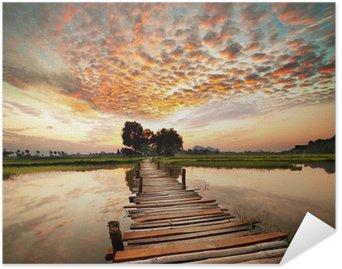 HD Poster River på solnedgången