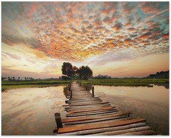 HD Poster Rivier op zonsondergang