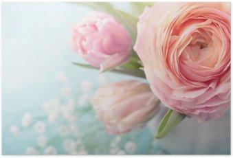 HD Poster Roze bloemen