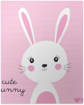 HD Poster Schattige konijntje vector illustratie