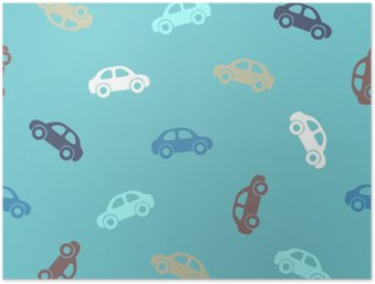 HD Poster Seamless mönster - bilar