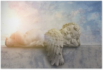 HD Poster Slapen engel in de zon