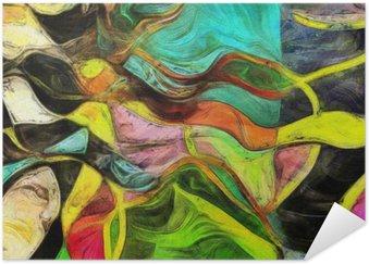 HD Poster Virvlande former, färg och linjer