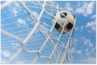 HD Poster Voetbal, Goal, Voetbal.