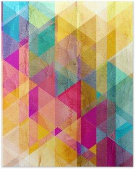 HD Poster Watercolor geometrische achtergrond met driehoeken