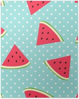 HD Poster Watermeloen naadloze patroon met stippen