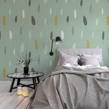Wall Mural & Sticker Bedroom - Scandinavian Style