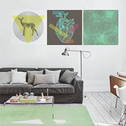 Plakáty do obývacího pokoje - Geometrie světa
