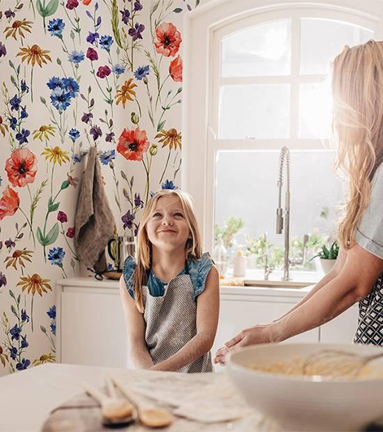 Fototapeta do kuchyně - vzor jarní květy