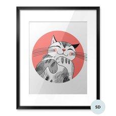 Plakát pro školáka - Kočka