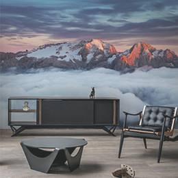 Fototapeta do salonu - Góra Marmolada o zachodzie słońca we Włoszech Dolomity latem