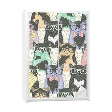 Vinilo para el dormitorio juvenil - Hipster gatos lindos para los niños