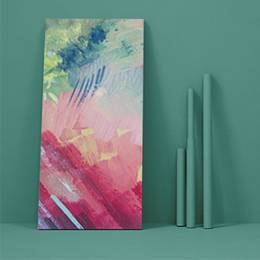 Canvas Print - Abstract brush painting background