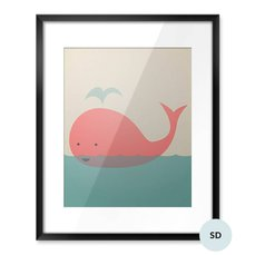 Plakat dla malucha - Śliczny wieloryb