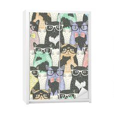 Sticker Teenager's room - Hipster cute cats for children