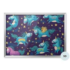 Poster för dagisbarn - Unicorns i nattskyen