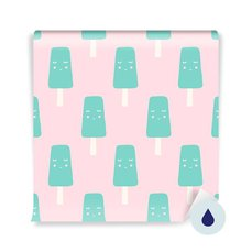 Wall Mural Toddler - Ice cream pattern