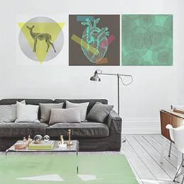 Plakaty do salonu - Geometria świata