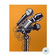 Plakát - Mikrofony