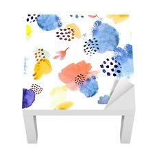 Sticker - Watercolor pattern,dot memphis fashion style