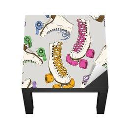 Dekor till en tonårstjejs rum - Mönster med rullskridskor