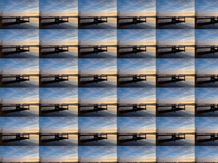 Vinylová Tapeta Molo u jezera holandské - Voda