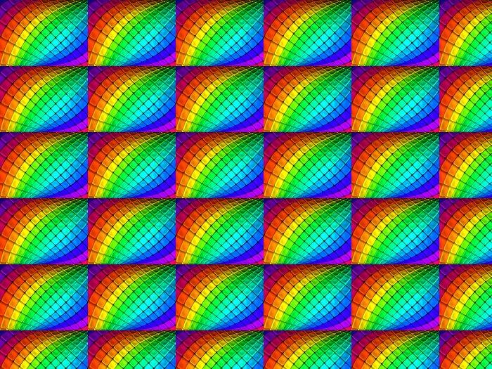 Vinylová Tapeta Barevné abstraktní krychle pozadí 3d ilustrace - Umění a tvorba