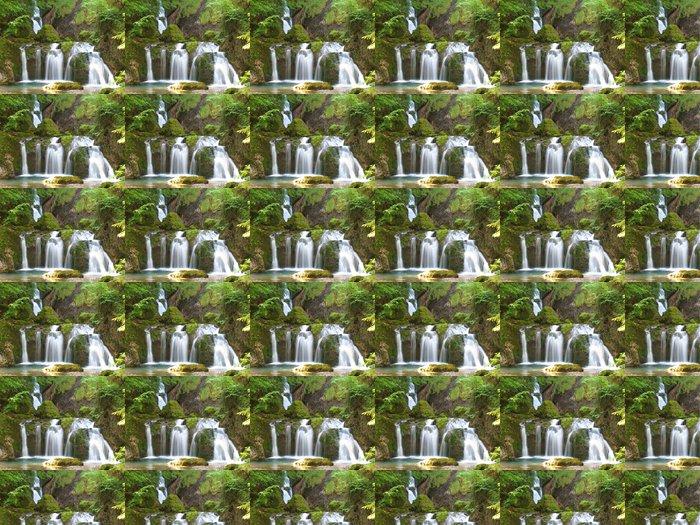 Vinylová Tapeta Vodopád v mechu - Voda