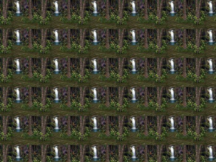 Vinylová Tapeta 3D Waterfall Pozadí - Voda