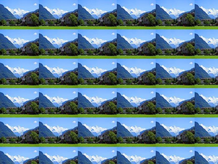 Vinylová Tapeta Evropa Alpy, hory v létě - Evropa