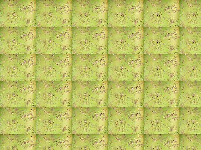 Vinylová Tapeta Jemný tráva - Květiny
