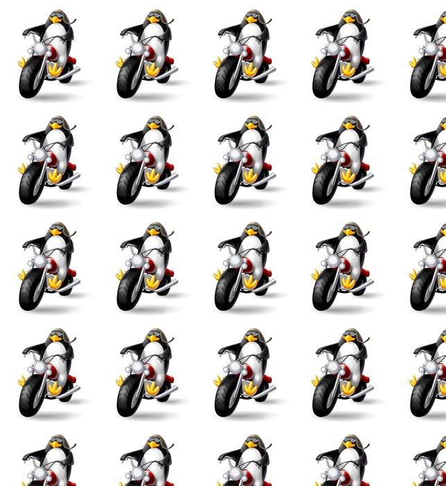Vinylová Tapeta Pinguino biker - Imaginární zvířata