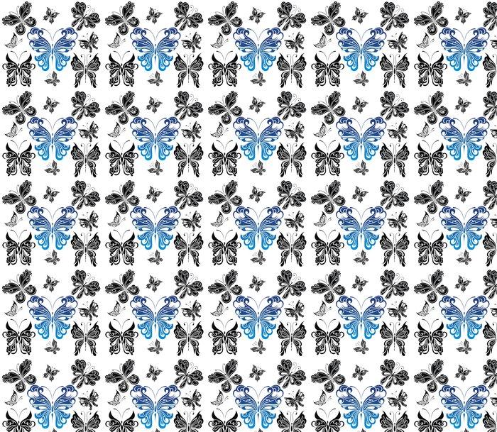 Vinylová Tapeta Černá a bílá butterflies.Tattoo designu - Imaginární zvířata