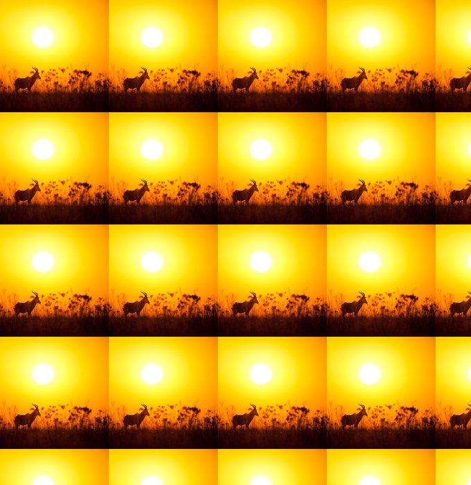 Vinylová Tapeta Lone buck svítání - Savci