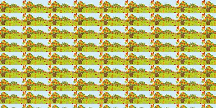 Vinylová Tapeta Zvířata v lese na podzim - Roční období