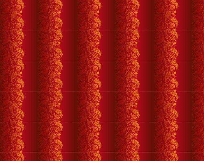 Vinylová Tapeta Svatební oznámení design, paisley květinovým vzorem, Indie - Styly