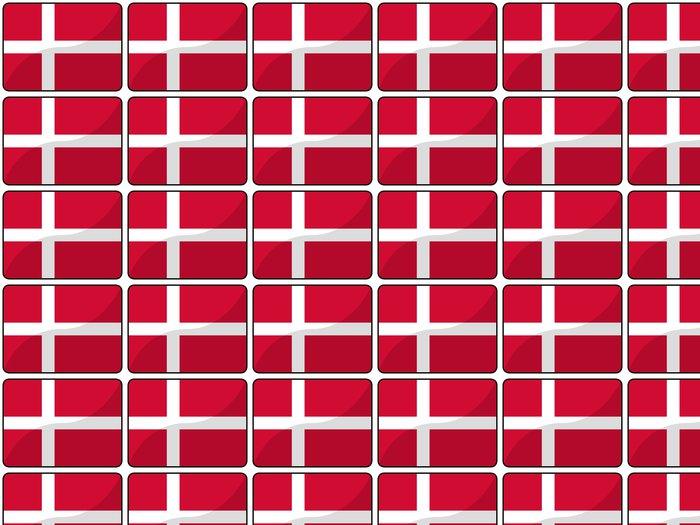 Vinylová Tapeta Drapeau Dánsko dánsko vlajka - Evropa