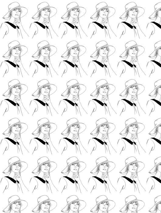 Vinylová Tapeta Fashion sketch - Umění a tvorba