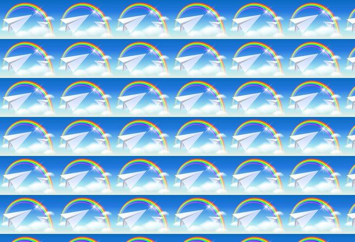 Vinylová Tapeta Dva papír a duha - Nebe