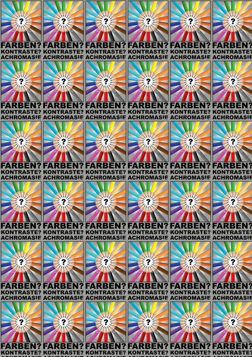 Vinylová Tapeta Farbenblindheit - Abstraktní